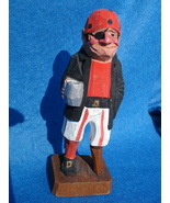 hand carved tiny wooden pirate-possible Anri - $80.00