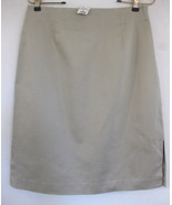 NWT Ann Taylor Khaki skirt Chino 8 Cotton Stret... - $39.99