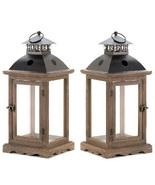 2 Large Western Candle Lanterns - $60.00