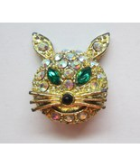 Golden_and_rhinestone_cat_face_brooch_pin_thumbtall