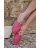 Vintage Bright Pink Espadrilles. Cotton, Rope, ... - $5.05
