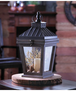 Hanging Bungalow Candle Holder Wood Glass and I... - $29.00