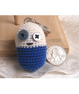 Amigurumi Kawaii Pill Medicine Funny Blue and W... - $10.00