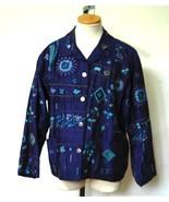 CHICO'S DESIGN Women's Purple Silk Embroidered ... - $29.50