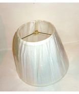 Pleated Off White Fabric Table Lamp Shade Satee... - $8.90