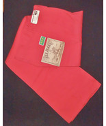 Vintage Colored Jeans Bright RED Ely Western Pa... - $28.71