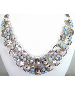 Table-Top faceted Rose Quartz and Fire Opal Cir... - $371.52