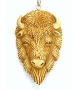 Hand Dyed Tan Buffalo Spirit Sterling Silver Pe... - $179.52