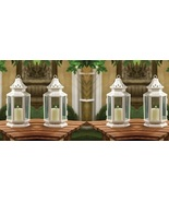 4 White Victorian Candle Lanterns - $37.00