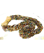 Vintage Multi Color Glass Bead Long Torsade Nec... - $46.00