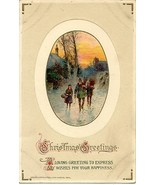 Christmas Greetings Vintage John Winsch Publis... - $3.00