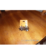 Claires Black Spider With Web Earrings Pierced - $3.99