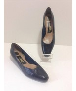 EASY SPIRIT Women's Navy Leather Flats Shoes Pu... - $13.50