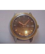 NICE Vintage TIMEX Mens Watch Brown Dial Day/da... - $42.00