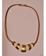 Vintage NAPIER Choker Necklace Enamel w/ Bright... - $22.95