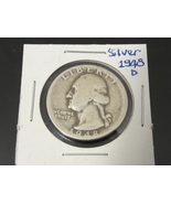 1948-D Washington Quarter from 90% Silver - $7.00