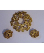 Vintage CROWN TRIFARI BROOCH & EARRINGS - $37.95