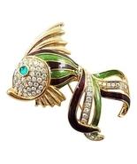 Trifari Enamel Fish Runway Couture Brooch Pin, ... - $150.00