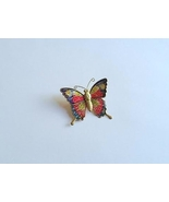 Vintage Butterfly Colorful Pin Brooch  - $15.00