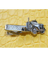 Vintage semi truck silver tone textured surface... - $17.99