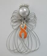 Leukemia Awareness Orange Ribbon Angel Ornament - $7.65