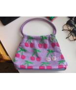The Sak Light Purple With Cherries Purse Sequins - $10.00