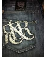 NWOT Rock & Republic leather logo denim jeans 2... - $50.00