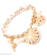 Shells Sand Dollar Gold Textured Bracelet Woman... - $16.80