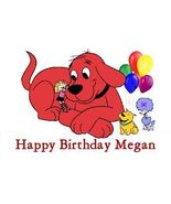 Clifford Big Red Dog Edible Custom Cake Topper - $7.99