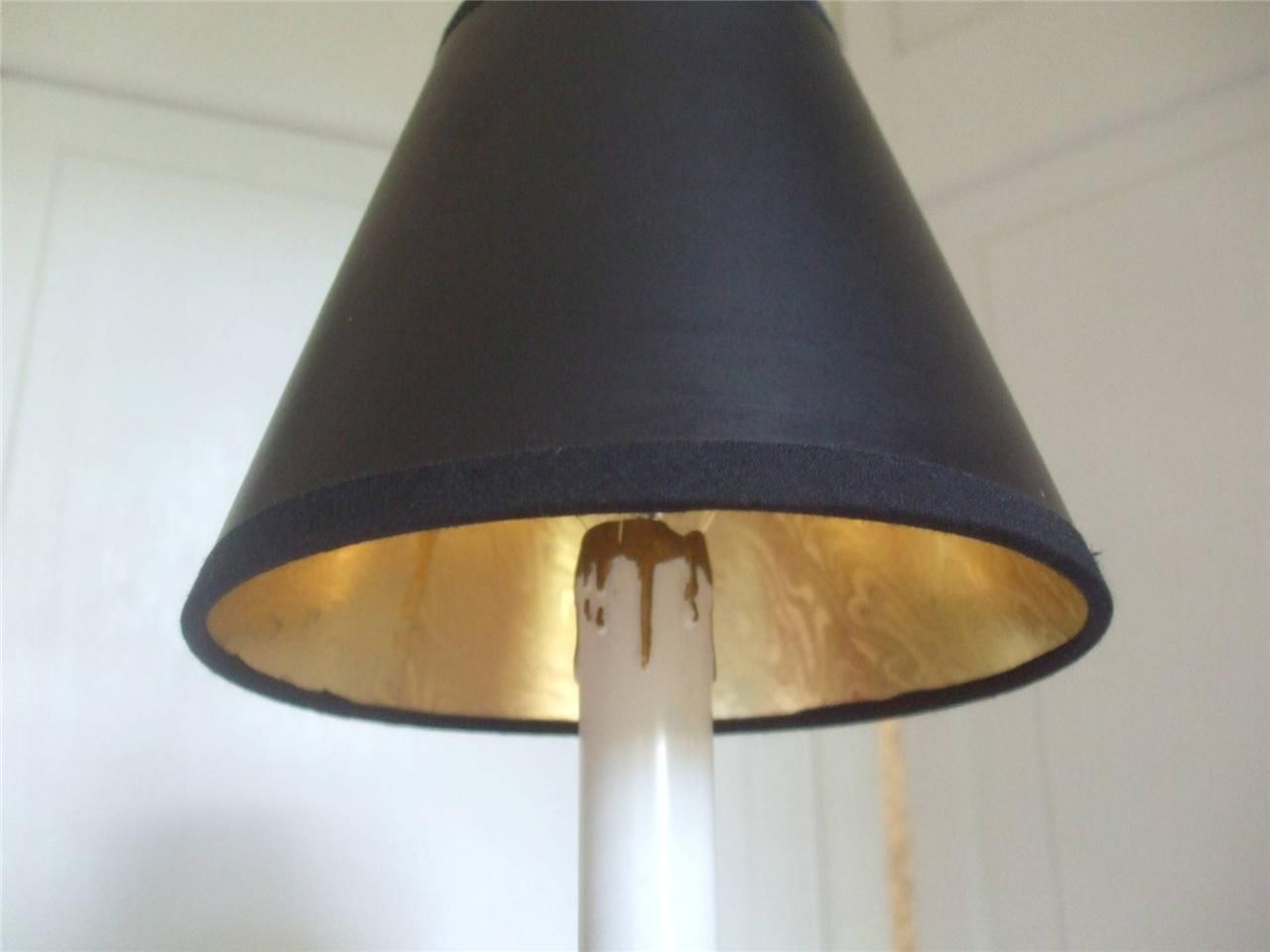 chandelier lamp sconce clip on small shade black gold color plastic 5. Black Bedroom Furniture Sets. Home Design Ideas