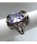Vintage Art Deco Sterling Ring Faux Alexandrite... - $148.45