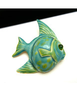 Original By Robert Vintage Enamel Fish Brooch G... - $44.54