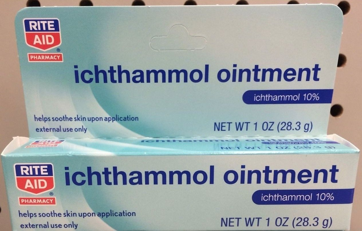 Ichthammol Ointment 10% Drawing Salve 1oz Tube - Ointments, Creams u0026 Oils