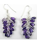 Bunch of Oval Grape Polished Purple Amethyst St... - $44.13