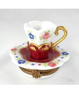 Limoges Box - Rochard Floral & Gold Tea Cup - T... - $95.00