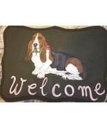 Basset Hound Dog Custom Painted Welcome Sign Pl... - $35.00