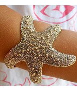 Starfish Bracelet Antique Gold Cuff Jewelry Adj... - $23.99