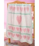 W252 Crochet PATTERN ONLY Hearts Aligned Baby B... - $9.45