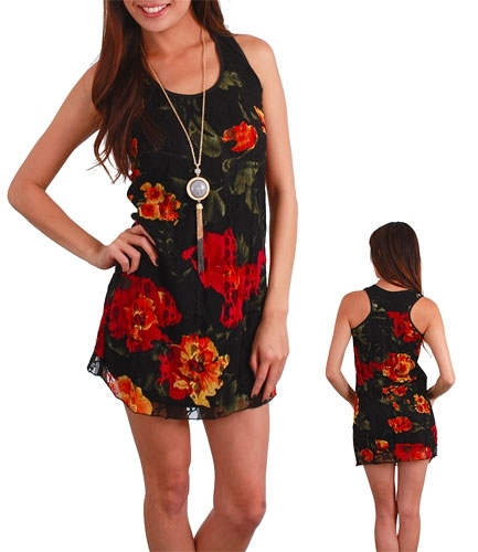 Juniors Floral Summer Dress SZ S-XL
