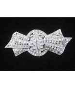 Deco Rhinestone Separable Duette Brooch, Coro. c. 1930s.