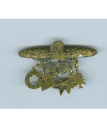 Antiqued Brass  ChristmasTree Pin Charms Top Shelf - $8.99