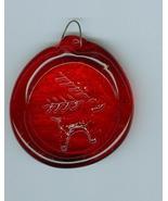 Glass SuncatcherSun Catcher Red with Reindeer E... - $5.00