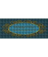 Bonanza Booth Banner- Blue Plaid and Gold Frame - $2.39