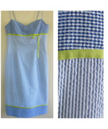 Striped blue sundress 4 Empire Cotton blend Spa... - $37.99