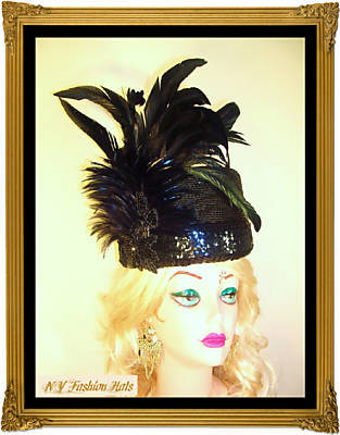Black Pillbox Designer Fashion Dress Derby Church Hat 1