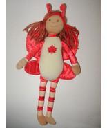 Red Oak Leaf Butterfly Doll Soft Body Yarn Hair... - $19.97