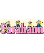 Minions Customized Wooden Sign (girl) - $11.50