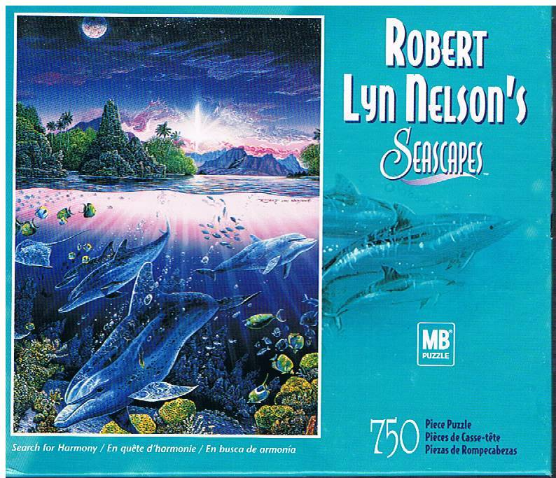 "MB Seascapes 750-Piece Jigsaw Puzzle by Robert Lyn Nelson ""Search for Harmony"""