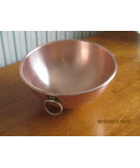 Vintage Solid Copper Chef's Mixing Bowl - $72.00