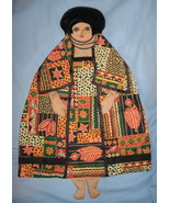 African fabric Lady Pajama bed Pillow Doll hand... - $47.77